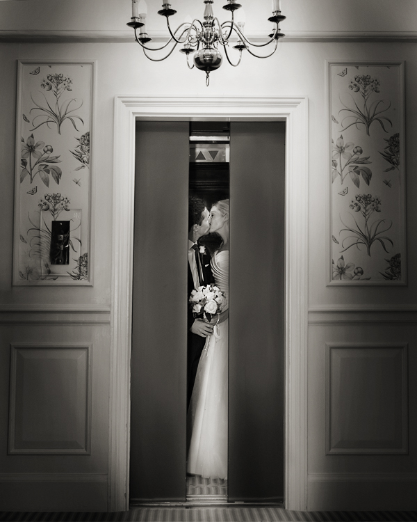 lift kiss Goring Hotel Wedding graphic