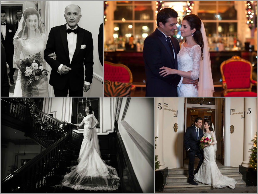 Central London wedding collage