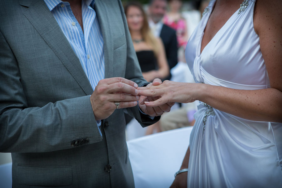 Exchanging rings in St Tropez