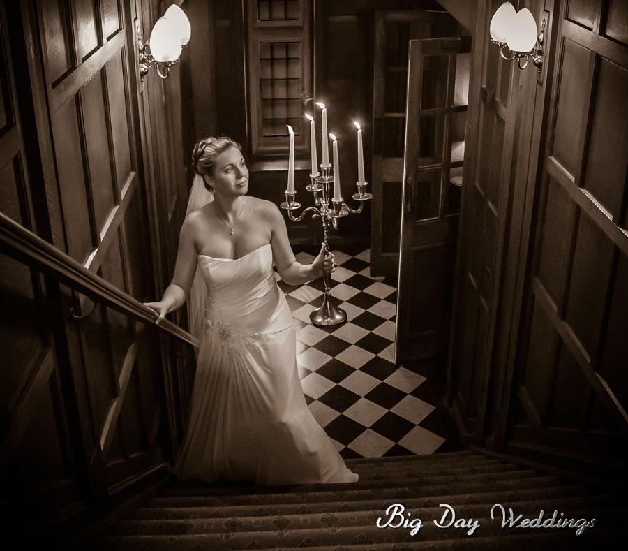 Unusual Fanhams Hall wedding photo