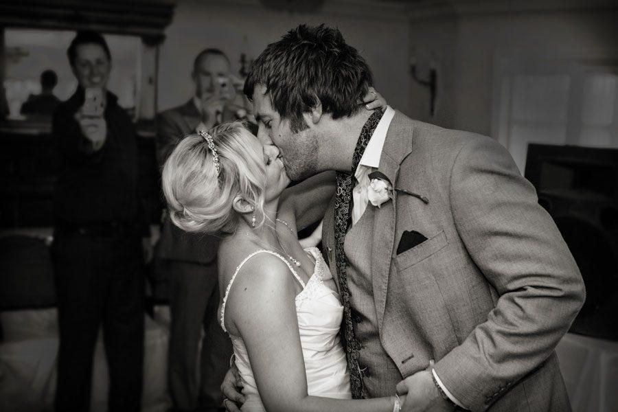 Enfield wedding kiss photo