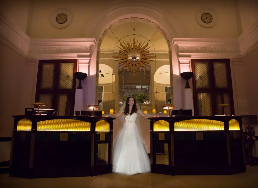 Bride in Lansdowne Club reception