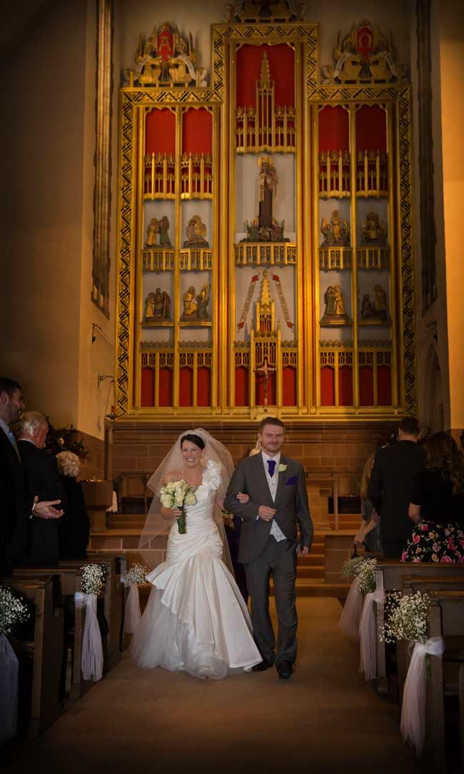 Chelsea church wedding recessional