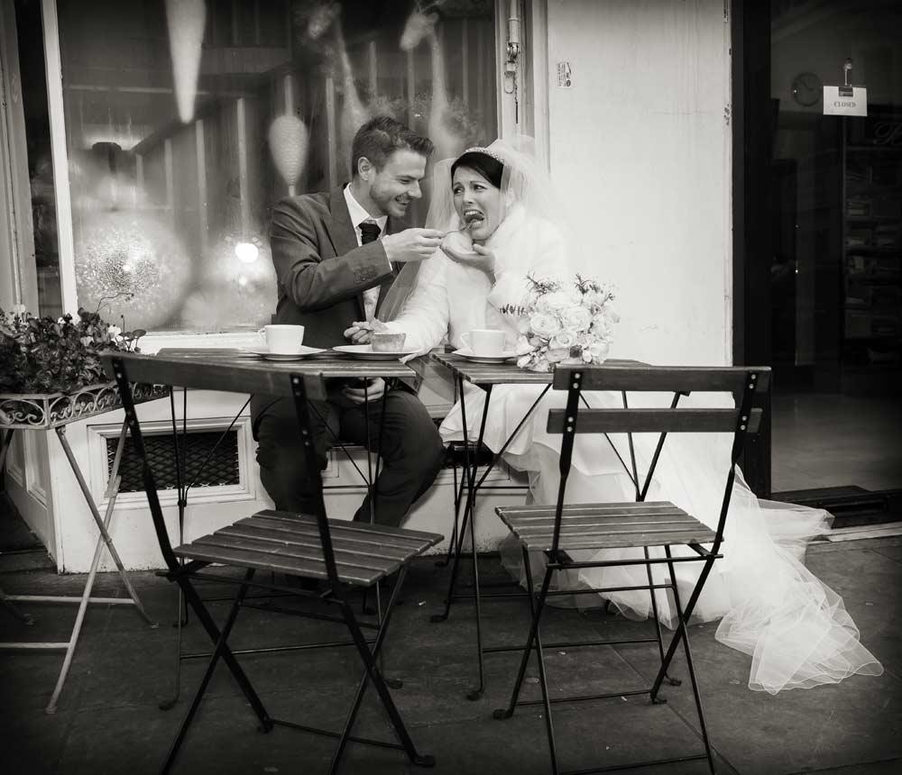 Chelsea wedding cake in the street
