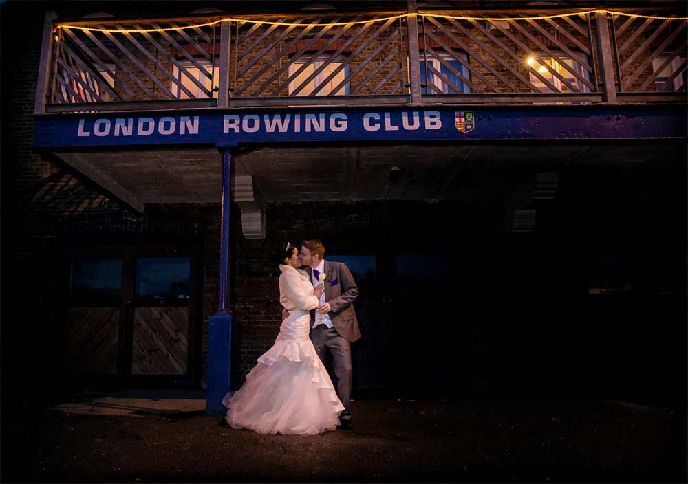 London rowing club wedding image