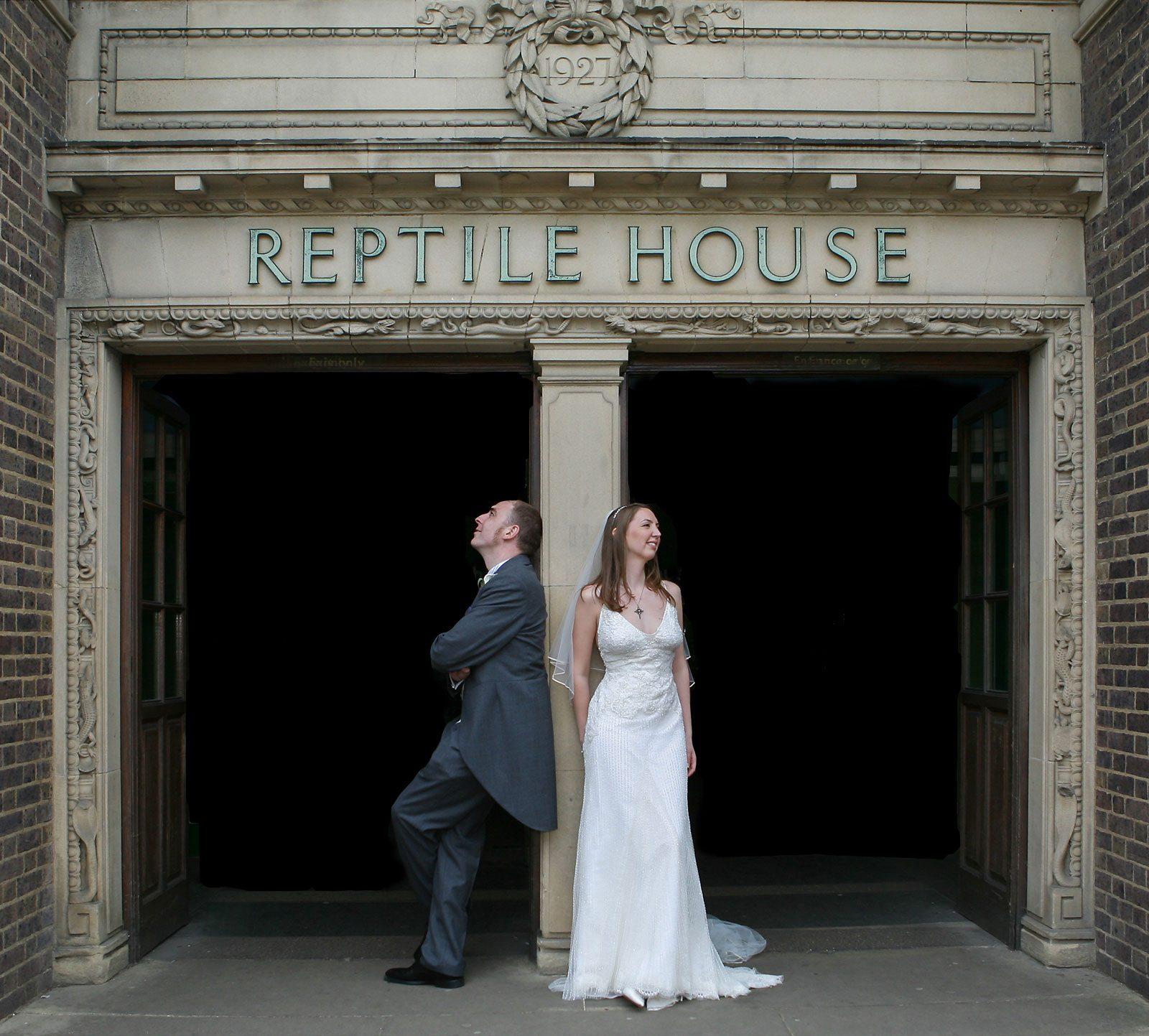 Reptile House London Zoo wedding