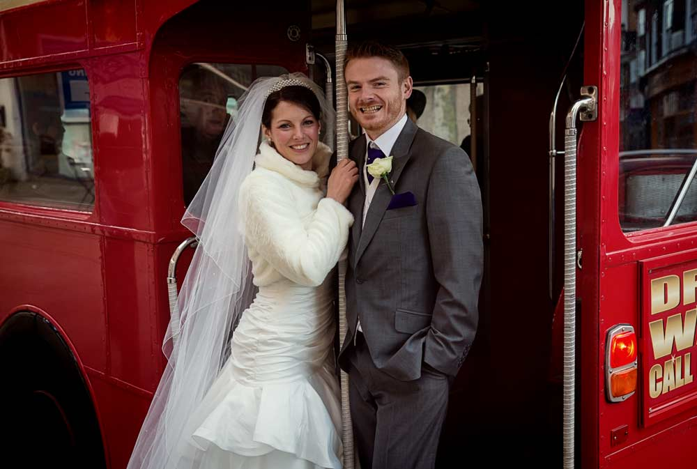Routemaster London wedding bus