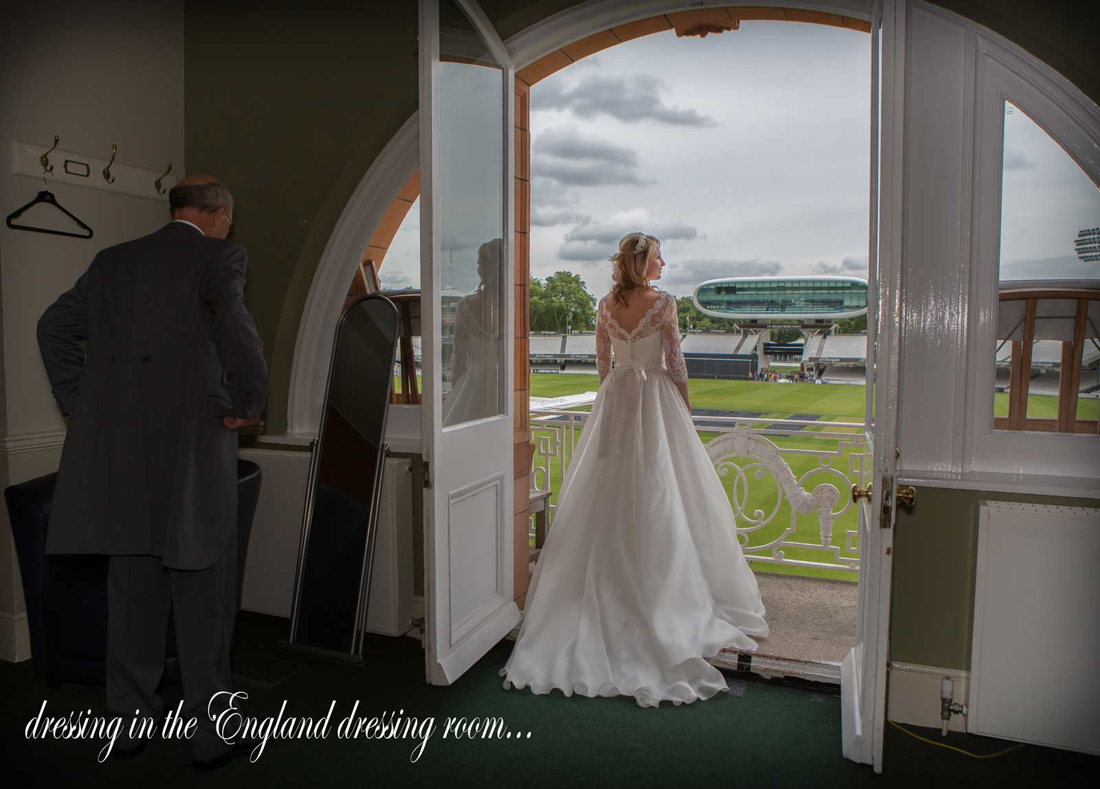 Lords cricket wedding shot