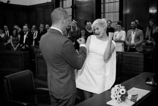 Hackney Town hall wedding ceremony