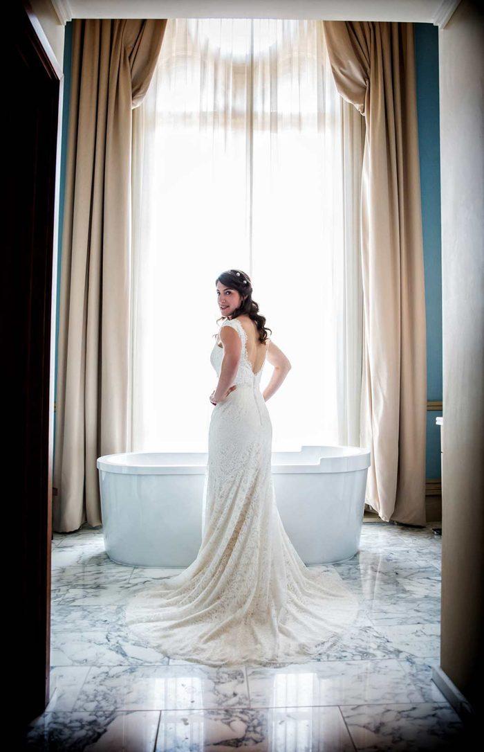 St Pancras wedding bathroom shot