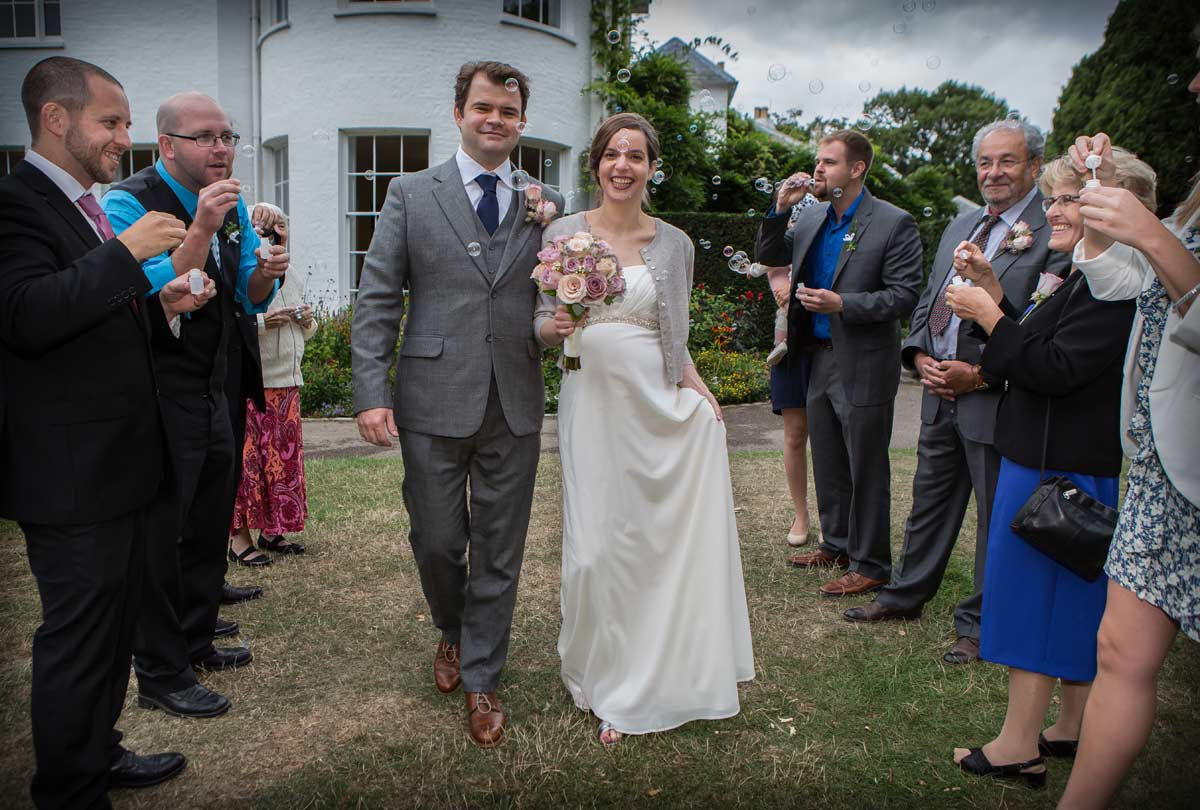 wedding confetti photo at Pembroke lodge