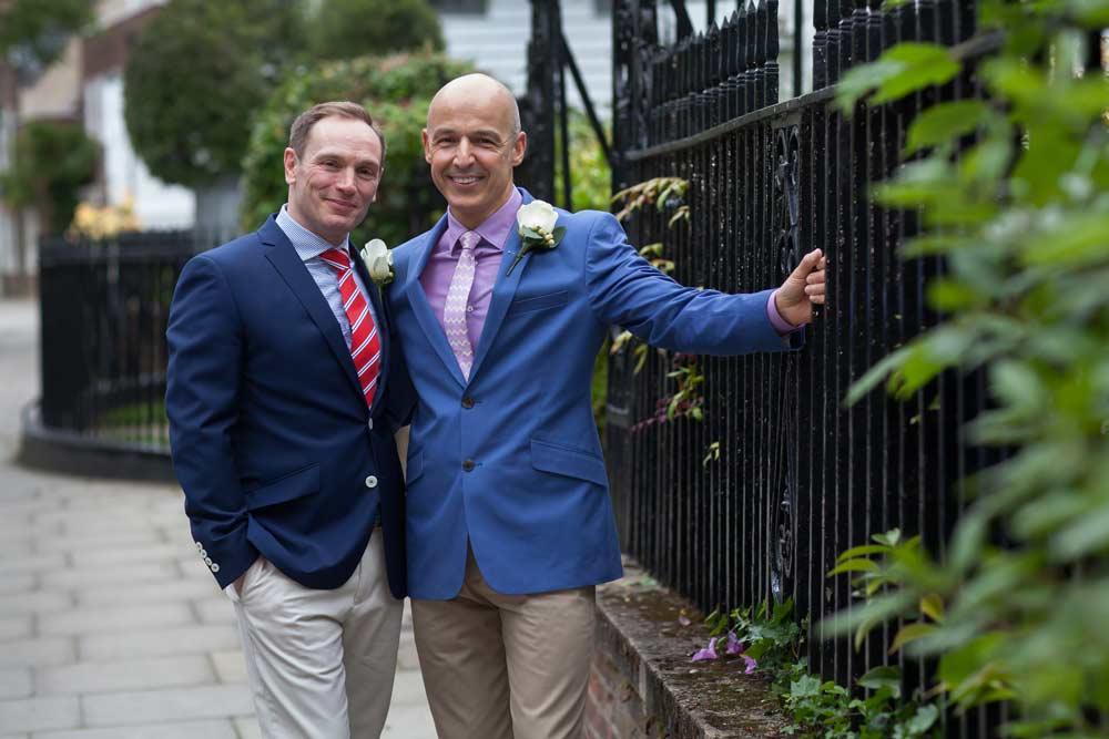 London gay wedding Enfield registry photo