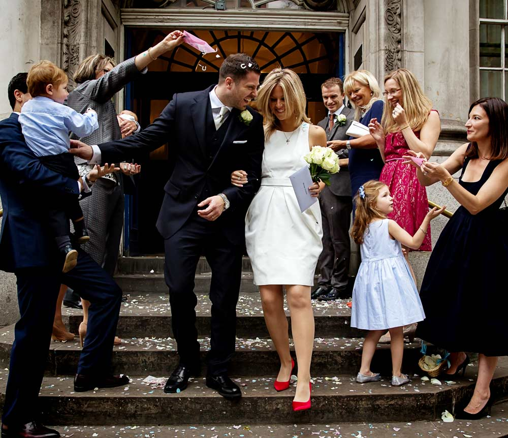 Chelsea old town hall wedding photographers