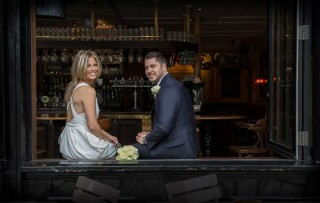 Chelsea pub wedding photo