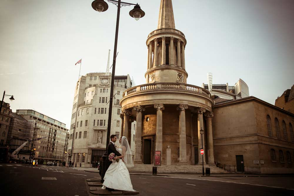 Langham Hotel wedding photographer London Wedding Photographers