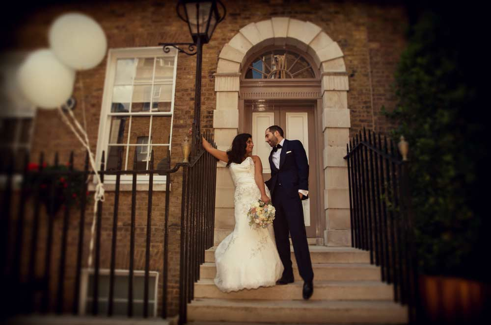 Devonshire Square wedding steps image