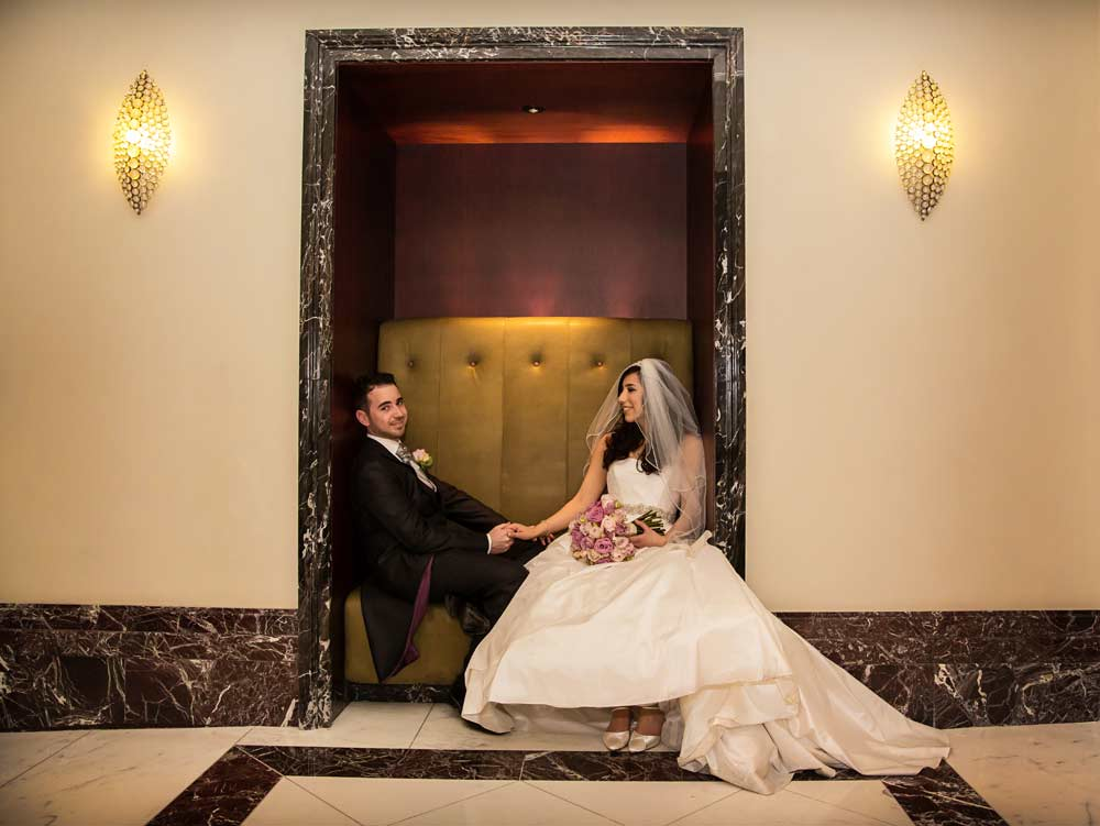 Langham Hotel wedding photographers