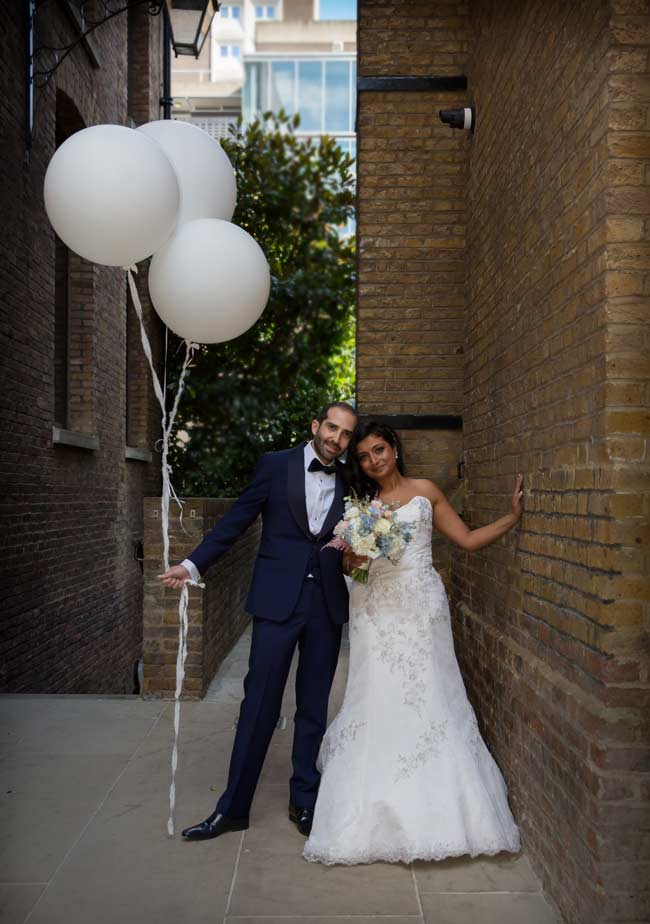 wedding balloons at Devonshire Square