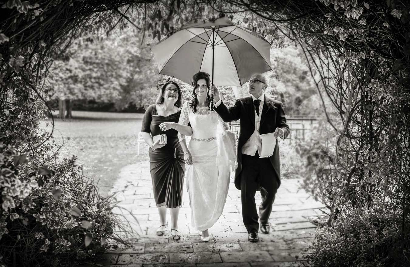 Sopwell House wedding in the rain 2