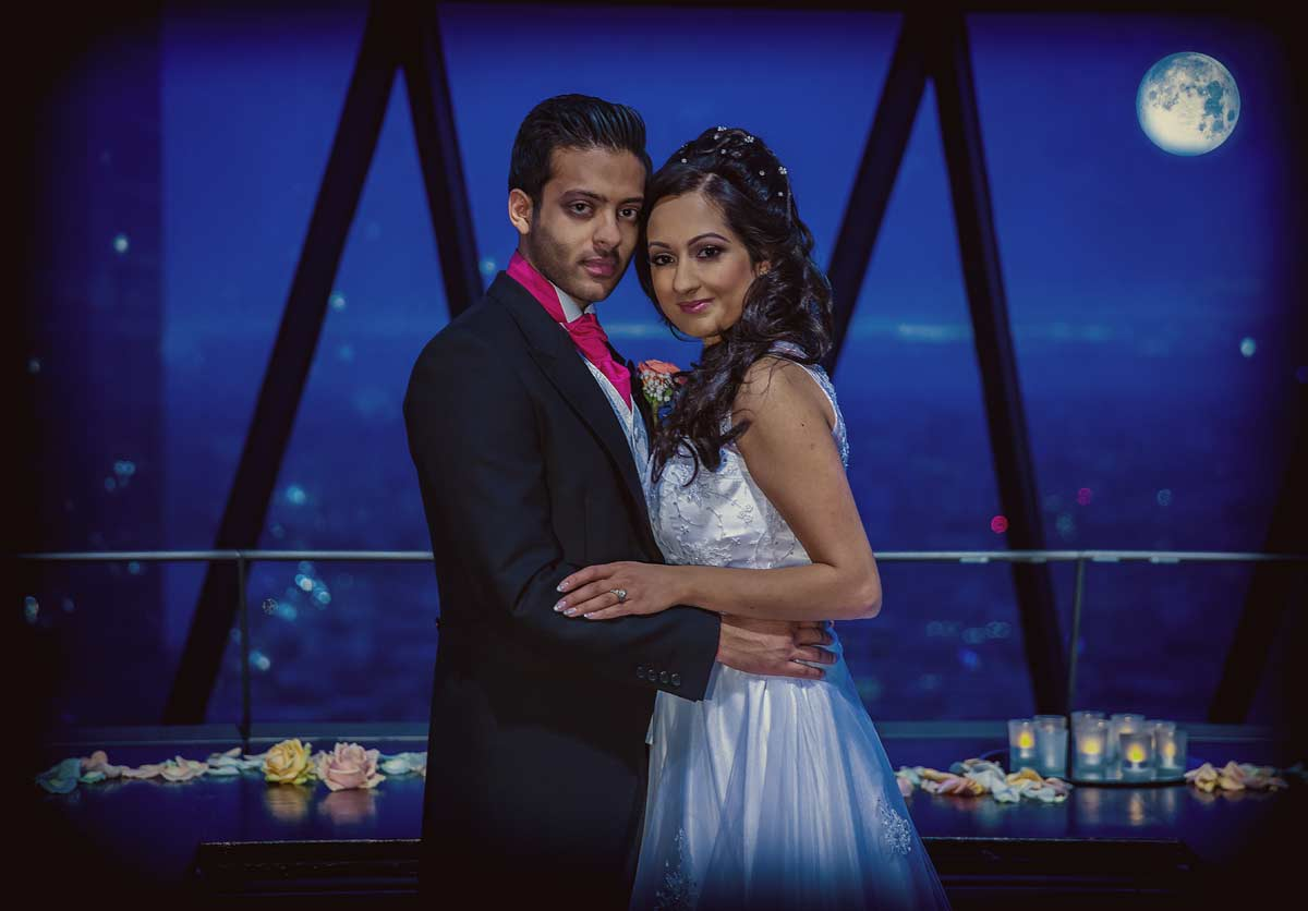 Indian wedding at the Gherkin