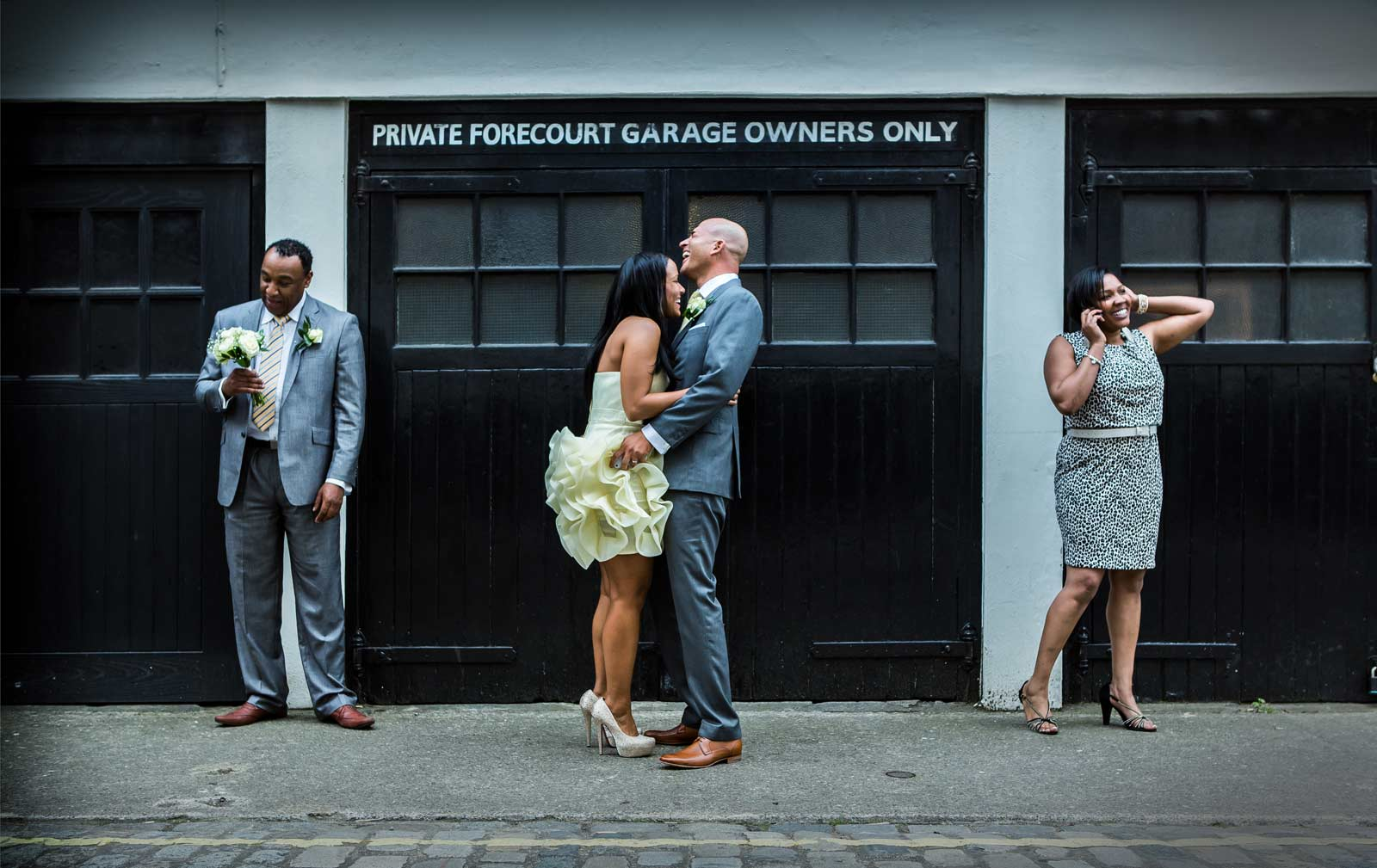London street scene contact page wedding image