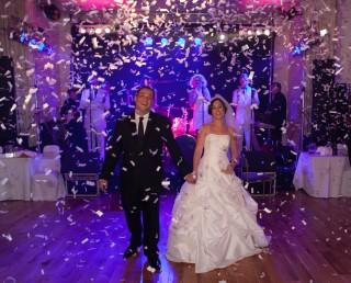 confetti canon at London wedding party