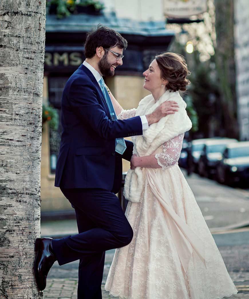 Peasant Pub London wedding shot
