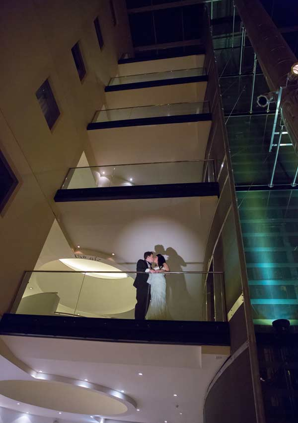 Wedding shadows at London Andaz image