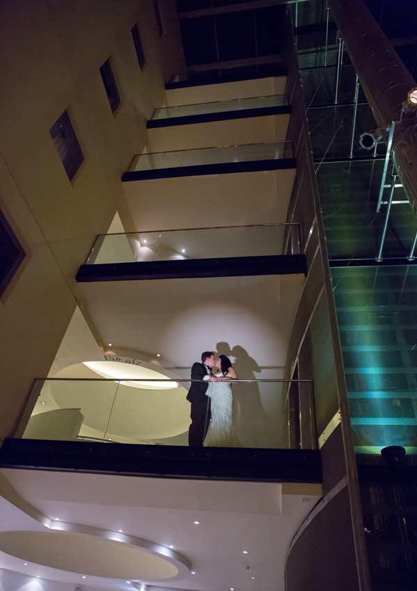 Wedding shadows at London Andaz image