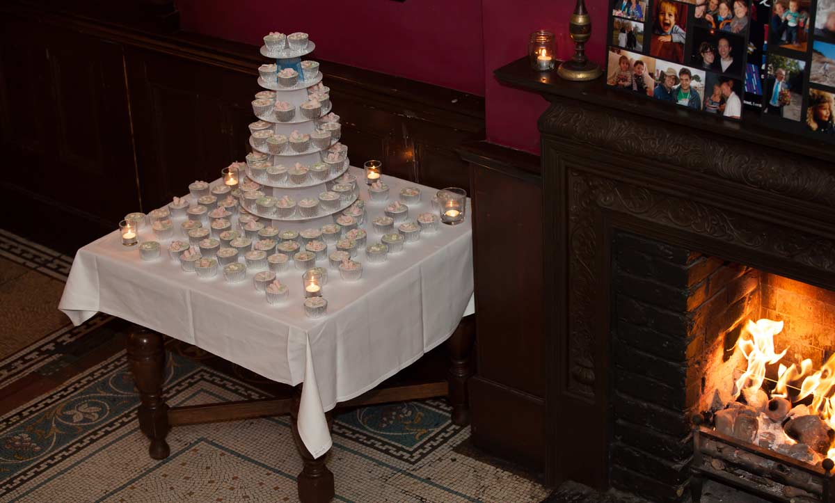 wedding cake served at the Peasant Clerkenwell