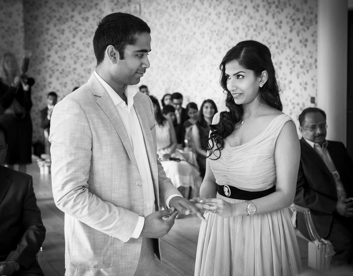 Wedding ceremony at Valentines Mansion