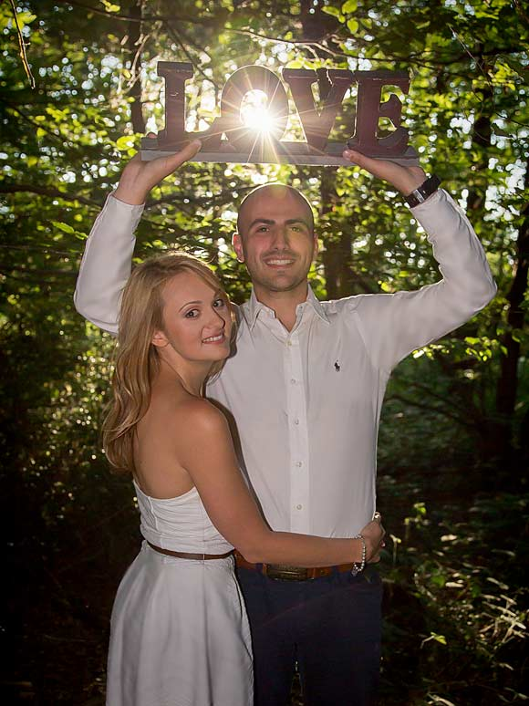 wedding and engagement shoot photo