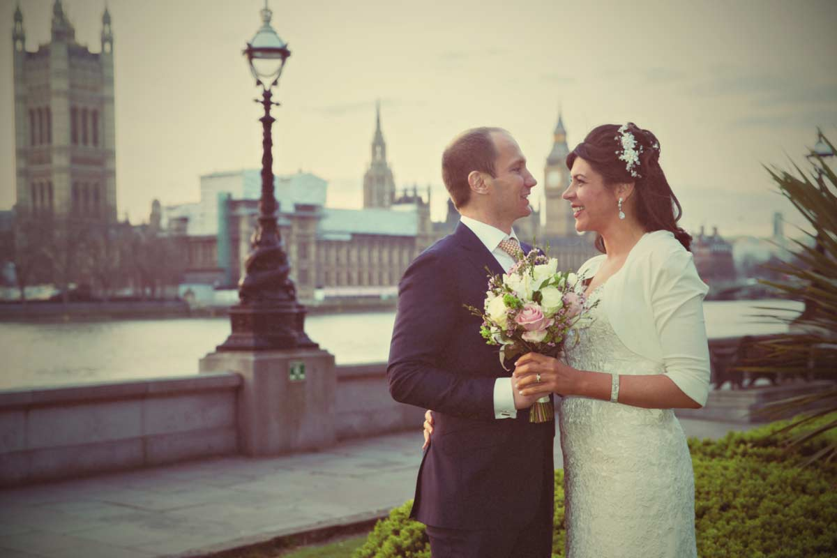 London Dorchester hotel wedding shot