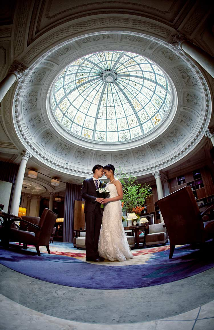 Threadneedles hotel wedding photography