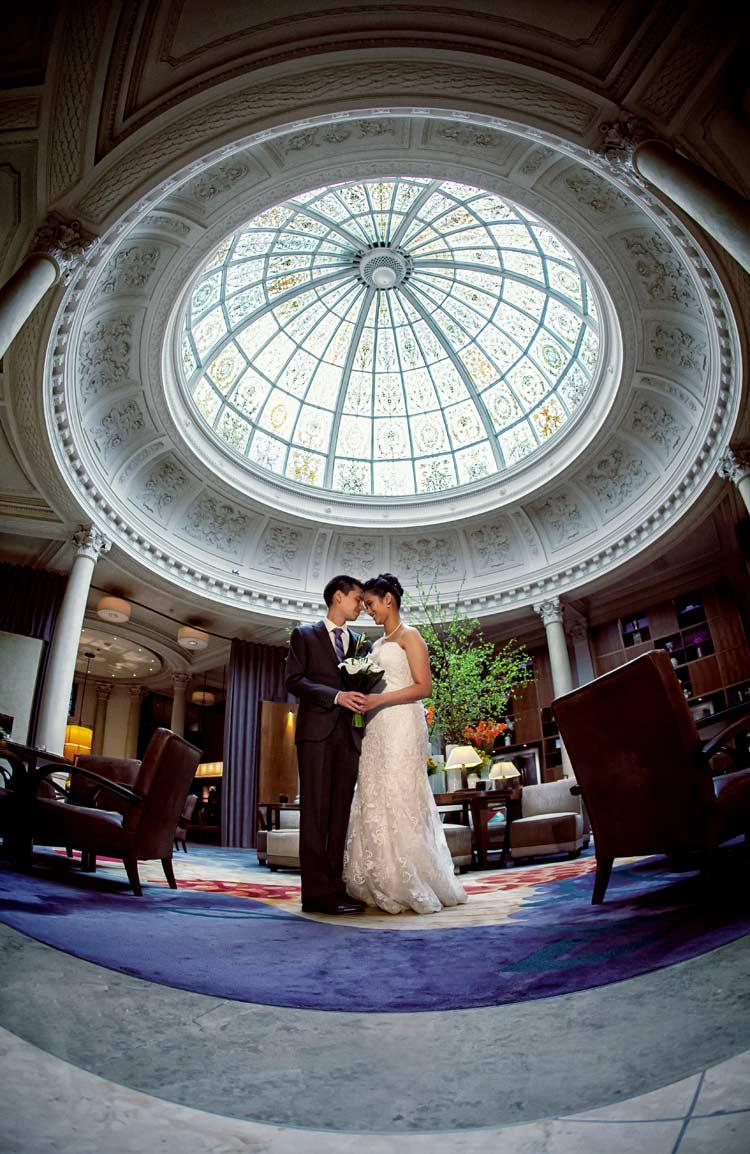 Threadneedles hotel wedding photography