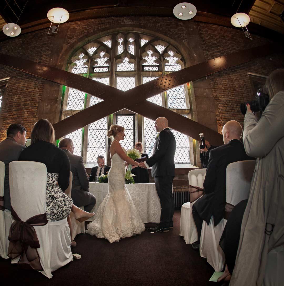 Tower Bridge wedding ceremony photo