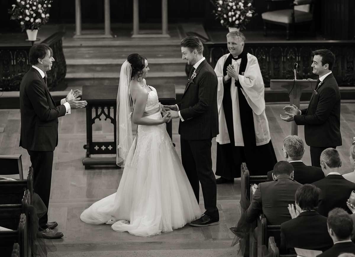 Wedding ceremony St James church London