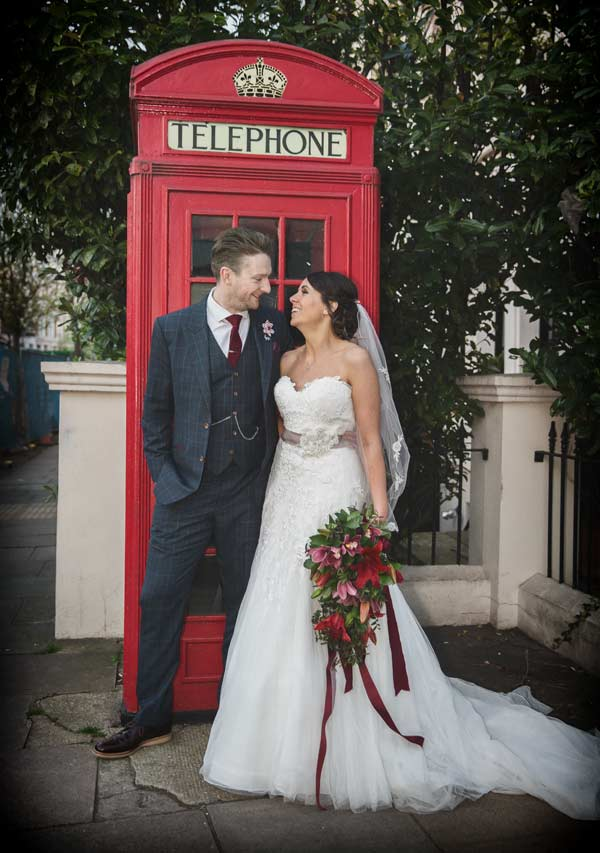 Wedding phone box photo Little Venice