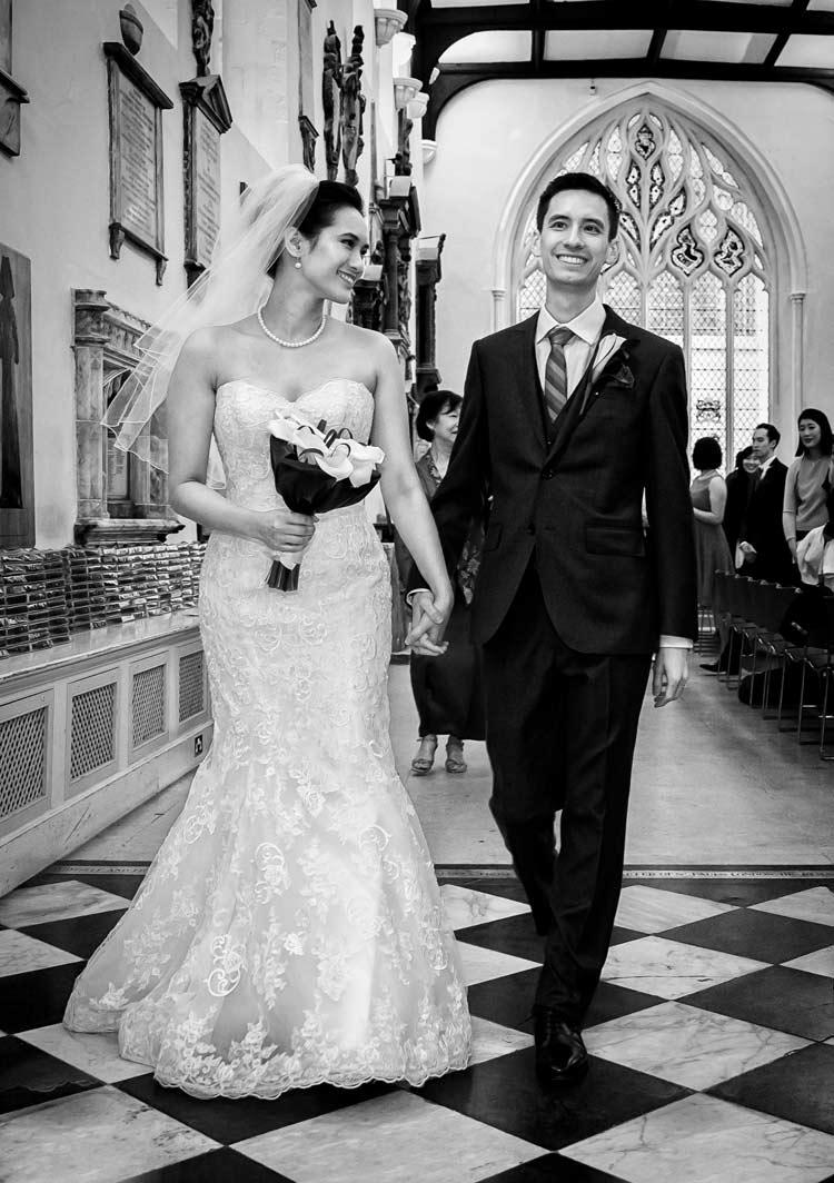 Wedding procession St Helens Bishopsgate