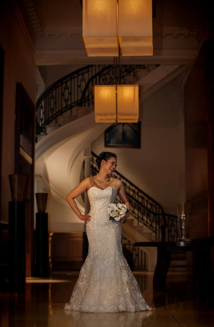 laughter at Threadneedles Hotel wedding