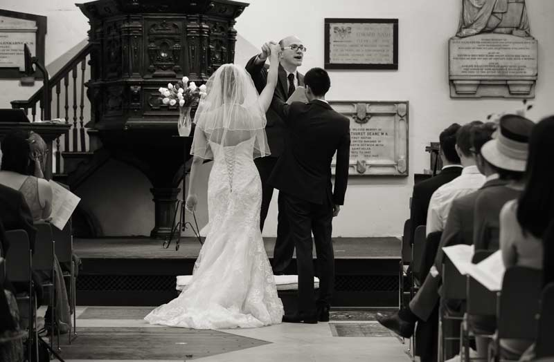 marriage vows at St Helens Bishopsgate London
