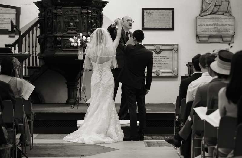 marriage vows at St Helens Bishopsgate London