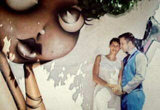 East End wedding couple