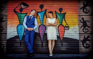 married at Petticoat Lane London banner