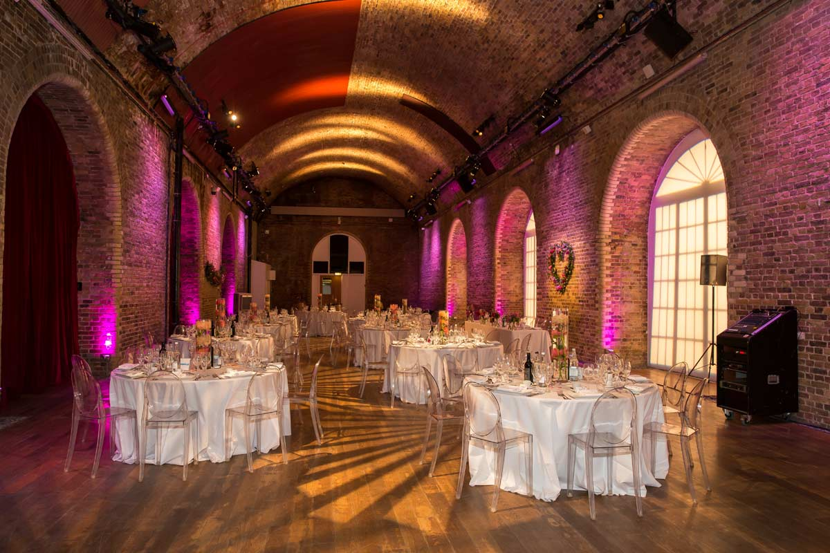wedding reception room London Vinopolis venue
