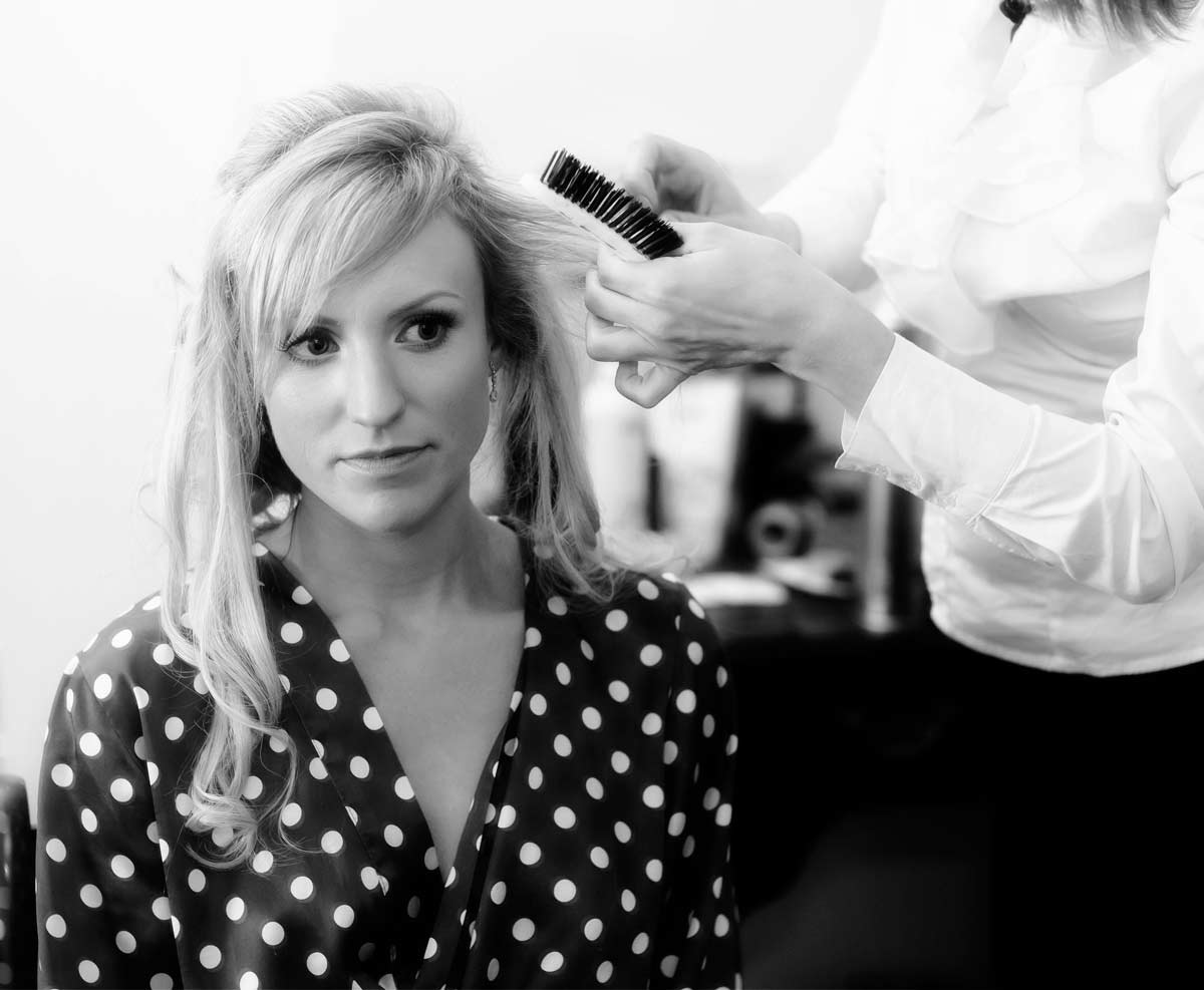 Bridal prep London photo