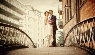 Camden wedding couple in London graphic