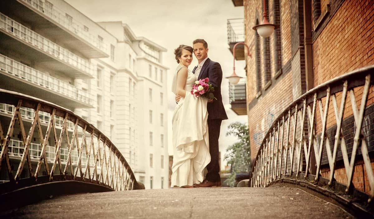 Camden wedding couple in London graphic