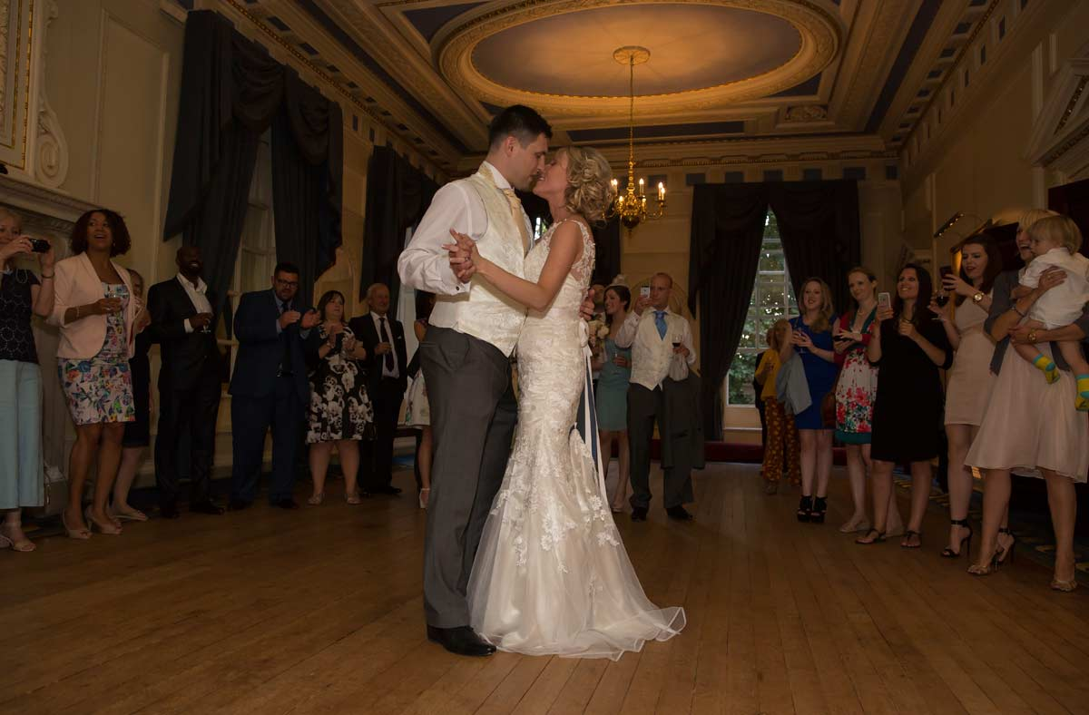 First dance for couple at Caledonian club wedding image