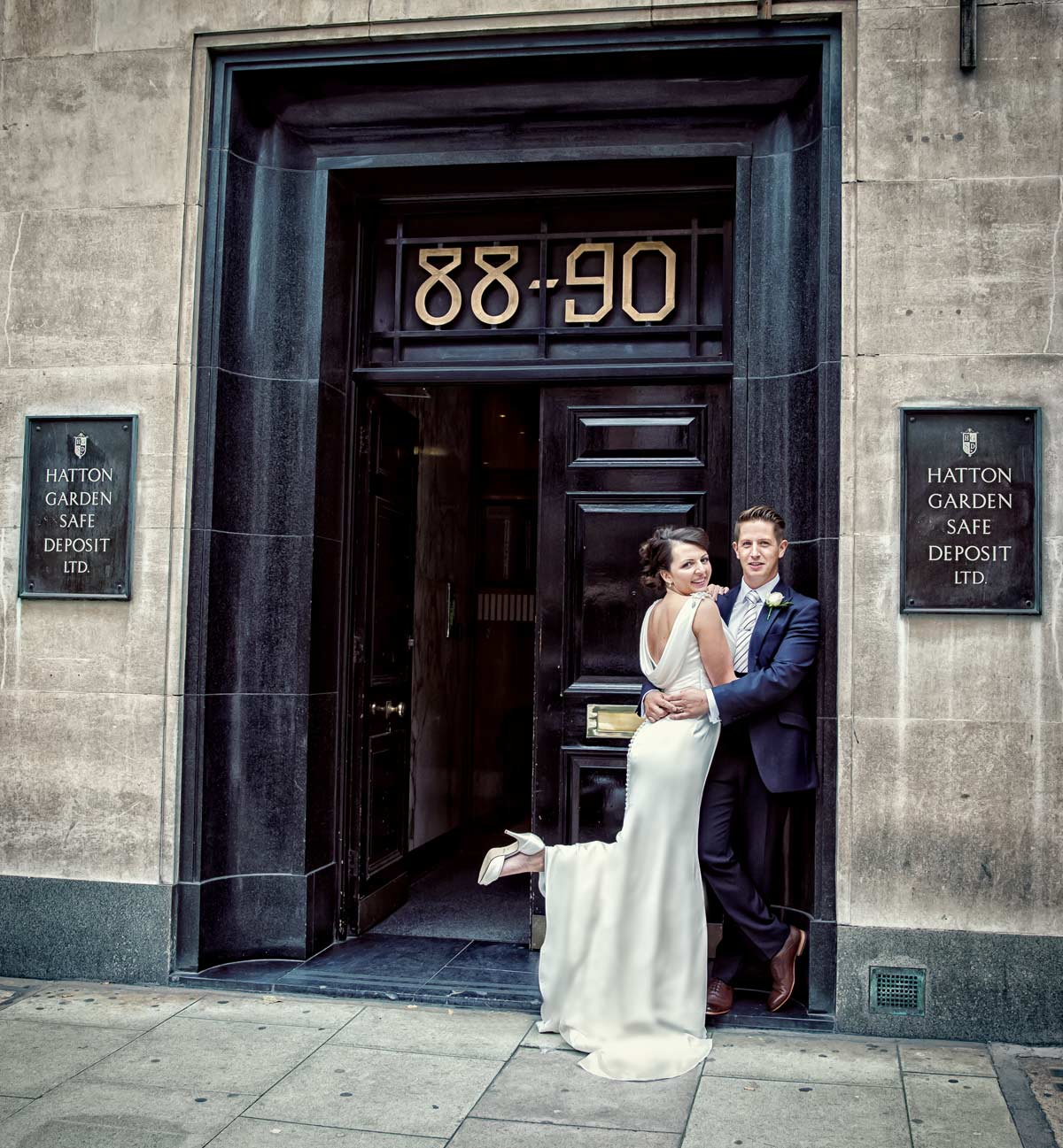 The Hatton Garden Wedding Job. Your valuables are safe... London Wedding Photographers